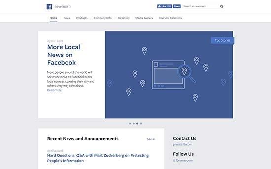 WordPress VIP wird von Facebook verwendet