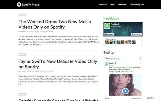 WordPress VIP wird von Spotify verwendet