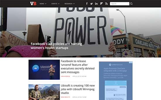 WordPress VIP wird von Venture Beat verwendet